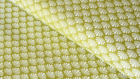 Baumwollstoff khaki: Muscheln - 140 cm im Makerist Materialshop