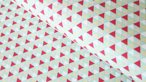 Baumwolljersey mint: Dreiecke - 150 cm im Makerist Materialshop