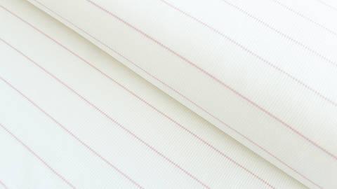Rosa-weißer Cotelé Jersey: Dünne Streifen - 145 cm im Makerist Materialshop
