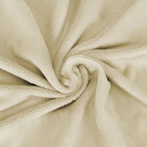 """Kuschelweicher Microfaserplüsch """"SNUGLY"""" von kullaloo - beige im Makerist Materialshop"""