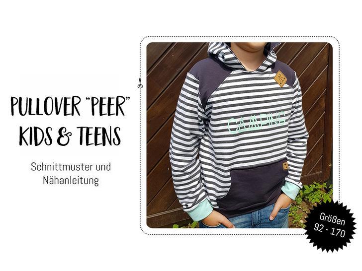 """Gedrucktes Schnittmuster für: Pullover """"Peer"""" für Kinder & Teens im Makerist Materialshop - Bild 1"""