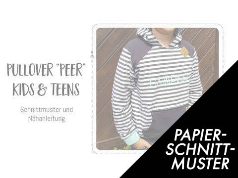 """Gedrucktes Schnittmuster für: Pullover """"Peer"""" für Kinder & Teens im Makerist Materialshop"""