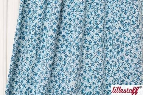 Hellblau-taubenblauer Jacquard lillestoff: Pusteblumen - 130 cm im Makerist Materialshop