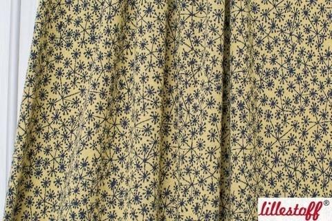 Bamboo-dunkelblauer Jacquard lillestoff: Pusteblumen - 130 cm im Makerist Materialshop