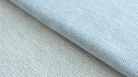Blauer melierter Stricksweat: Marvin - 150 cm im Makerist Materialshop