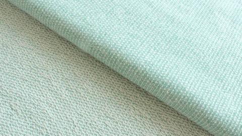 Mintfarbener melierter Stricksweat: Marvin - 150 cm im Makerist Materialshop