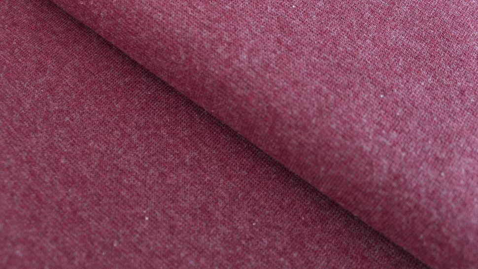 Bündchenstoff bordeaux meliert: Heike - 95 cm im Makerist Materialshop - Bild 1