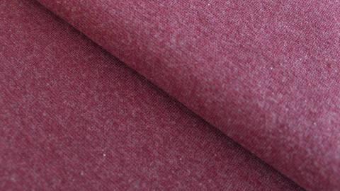 Bündchenstoff bordeaux meliert: Heike - 95 cm im Makerist Materialshop
