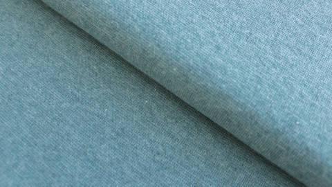 Bündchenstoff rauchblau meliert: Heike - 95 cm im Makerist Materialshop