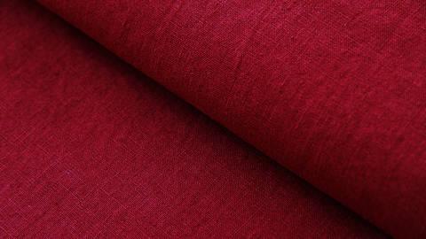 Leinenstoff burgundy: Damiel - 140 cm im Makerist Materialshop