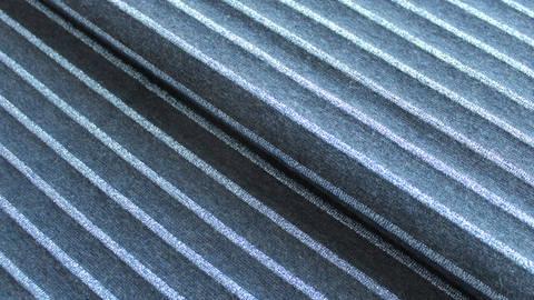 Baumwolljersey dunkelblau Melange: Glitzer Streifen - 150 cm im Makerist Materialshop