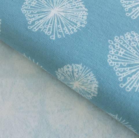 Sweatstoff rauchblau: Avalana Pusteblumen - 160 cm im Makerist Materialshop