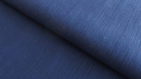 Navyblauer Uni Baumwollstoff: Fältchen - 127 cm im Makerist Materialshop