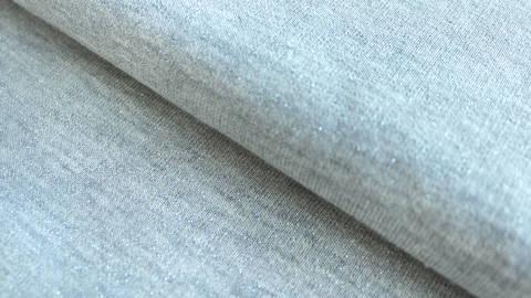 Hellgrauer Sweatstoff Melange: Glitter - 145 cm im Makerist Materialshop