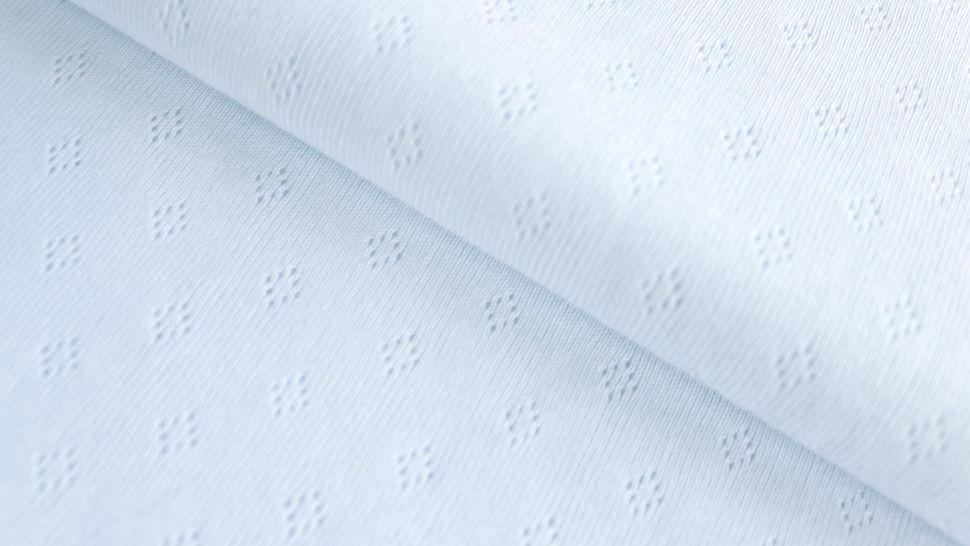 Baumwoll-Strickstoff weiß : Pointoille - 140 cm im Makerist Materialshop - Bild 1