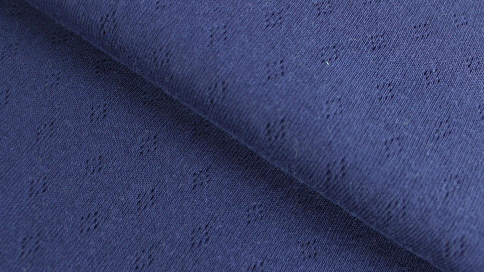 Baumwoll-Strickstoff navy: Pointoille - 140 cm im Makerist Materialshop - Bild 1