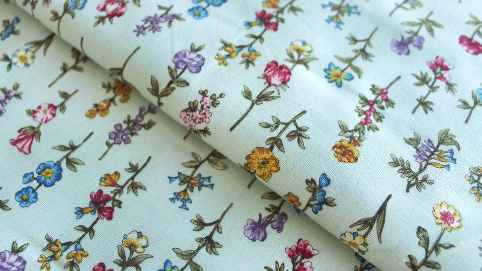 Baumwollstoff mint: Frühlingswiese - 112 cm im Makerist Materialshop - Bild 1