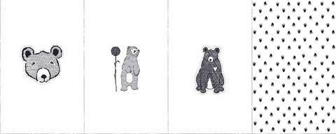 Rapport Sweatstoff weiß: Avalana Bären - 160 cm im Makerist Materialshop