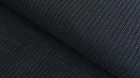 Schwarzer Cotelé Jersey - 150 cm  im Makerist Materialshop