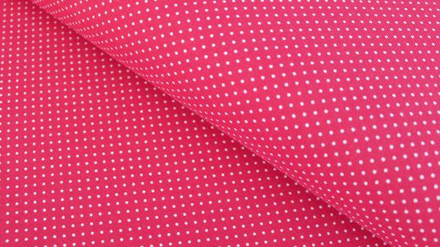 Rot-weißer Baumwolljersey: Sunny Pünktchen - 150 cm im Makerist Materialshop - Bild 1
