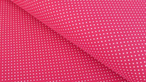 Rot-weißer Baumwolljersey: Sunny Pünktchen - 150 cm im Makerist Materialshop