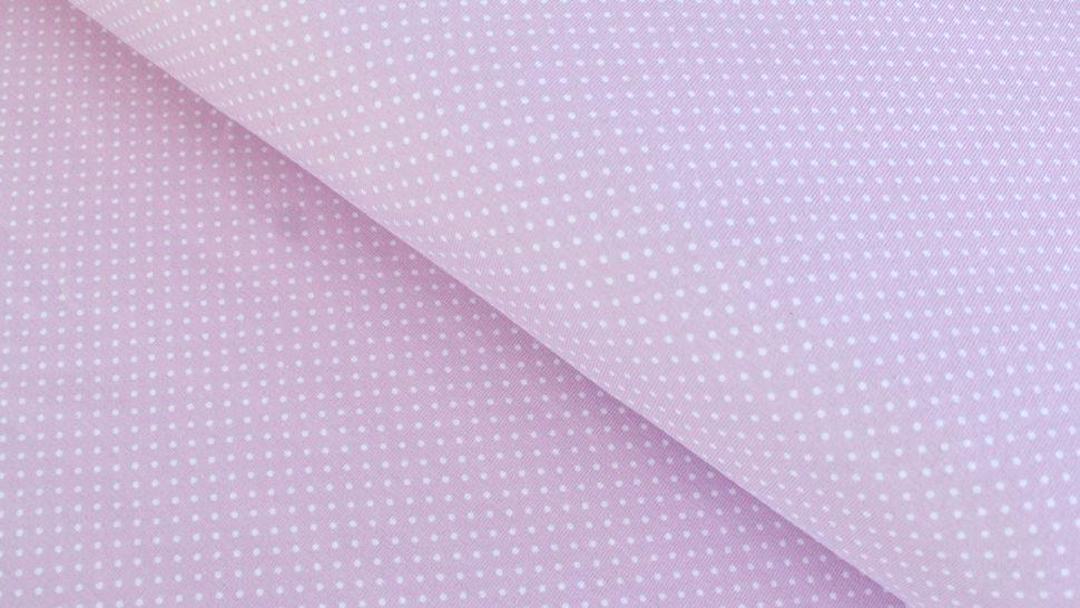 Rosa-weißer Baumwolljersey: Sunny Pünktchen - 150 cm im Makerist Materialshop - Bild 1