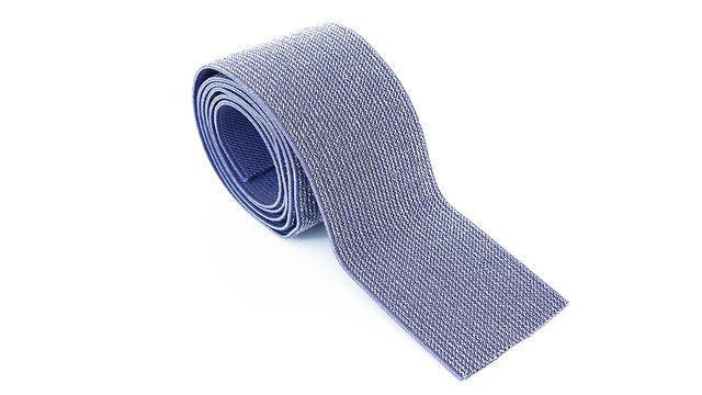 Elastisches Glitzerband - jeansfarbend - 5 cm im Makerist Materialshop - Bild 1