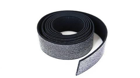 Elastisches Glitzerband - schwarz - 2,5 cm im Makerist Materialshop