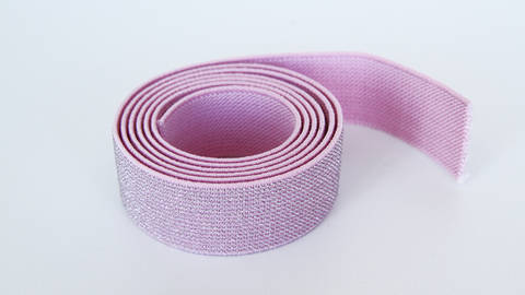 Elastisches Glitzerband - rosa - 2,5 cm im Makerist Materialshop