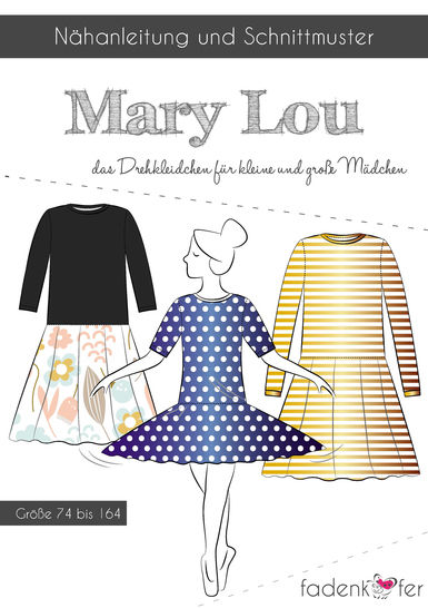 Fadenkäfer Schnittmuster und Nähanleitung gedruckt: Mary Lou Drehkleidchen für Kinder im Makerist Materialshop - Bild 1