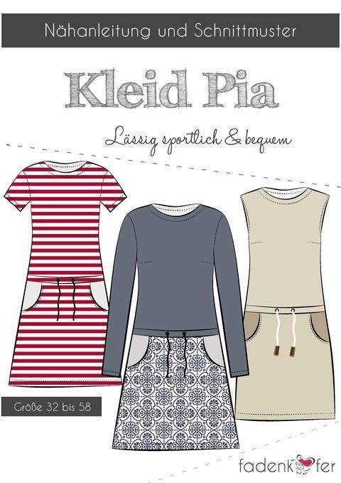Fadenkäfer Nähanleitung und Schnittmuster gedruckt: Kleid Pia im Makerist Materialshop