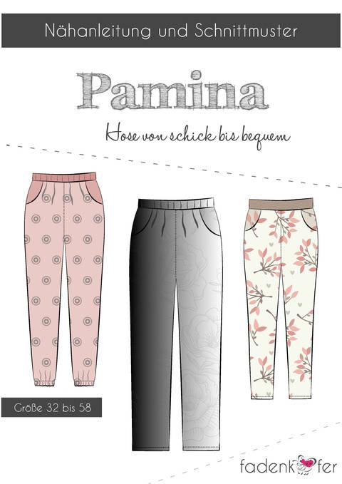 Fadenkäfer Schnittmuster und Nähanleitung gedruckt: Pamina Damen-Hose im Makerist Materialshop