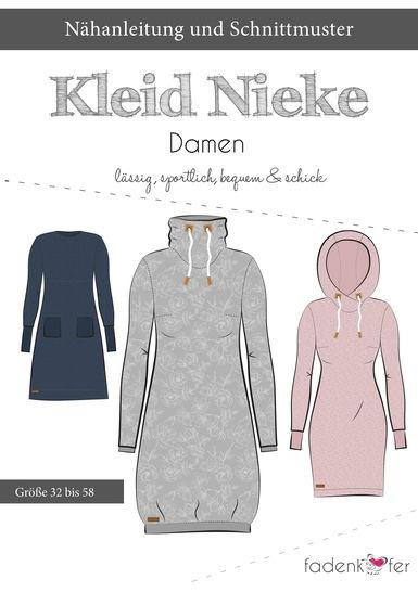 Fadenkäfer Schnittmuster und Nähanleitung gedruckt: Kleid Nieke im Makerist Materialshop - Bild 1