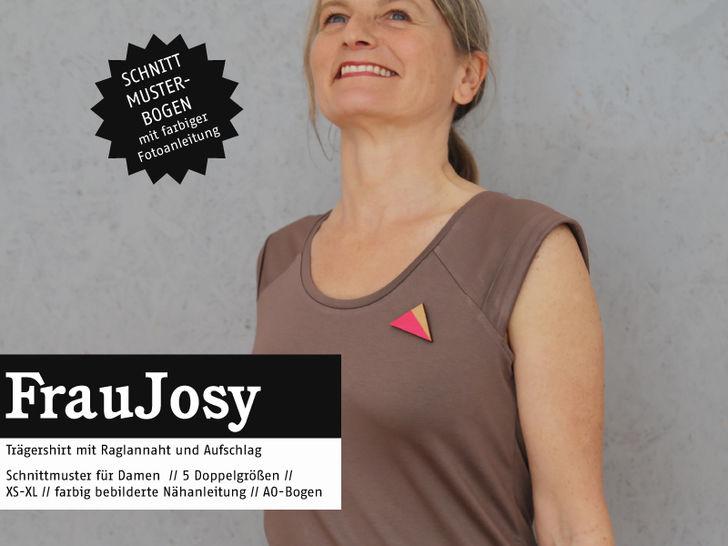 Studio Schnittreif - Schnittmuster und Nähanleitung gedruckt: Frau Josy Trägershirt im Makerist Materialshop - Bild 1