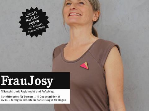 Studio Schnittreif - Schnittmuster und Nähanleitung gedruckt: Frau Josy Trägershirt im Makerist Materialshop