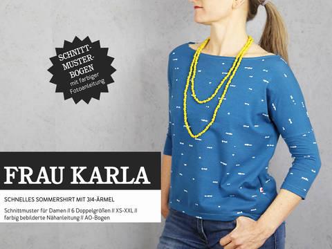Studio Schnittreif - Schnittmuster und Nähanleitung gedruckt: Frau Karla Sommershirt im Makerist Materialshop