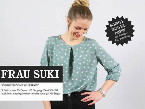 Studio Schnittreif - Schnittmuster und Nähanleitung gedruckt: Frau Suki Schlupfbluse im Makerist Materialshop