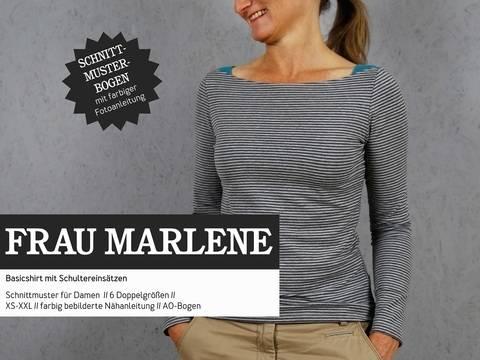 Studio Schnittreif - Schnittmuster und Nähanleitung gedruckt: Frau Marlene Basicshirt im Makerist Materialshop