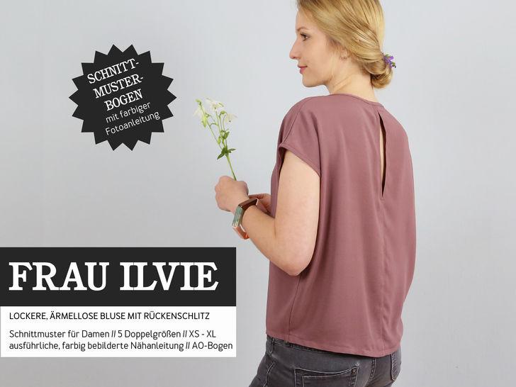 Studio Schnittreif - Schnittmuster und Nähanleitung gedruckt: Frau Ilvie Bluse im Makerist Materialshop - Bild 1