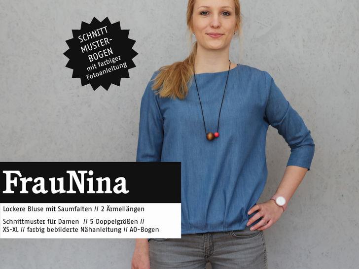 Studio Schnittreif - Schnittmuster und Nähanleitung gedruckt: Frau Nina Bluse im Makerist Materialshop - Bild 1