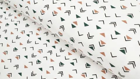 Baumwolljersey weiß: Dreiecke - 150 cm im Makerist Materialshop