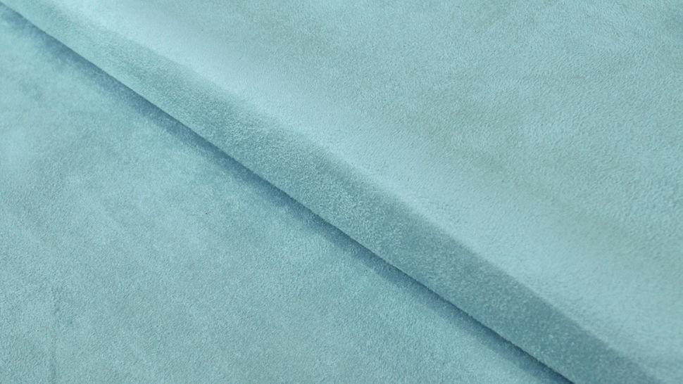 Velours-Lederimitat hellblau - 150 cm im Makerist Materialshop - Bild 1