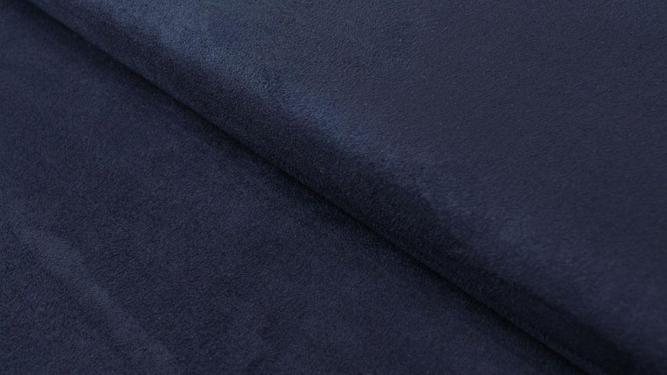 Velours-Lederimitat dunkelblau - 150 cm im Makerist Materialshop - Bild 1