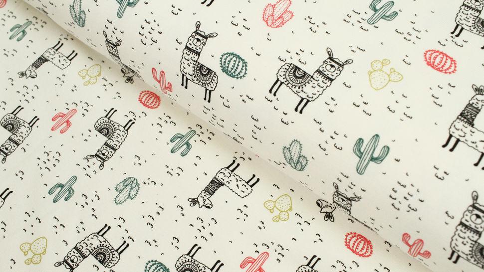 Jersey de coton motifs lamas - 150 cm dans la mercerie Makerist - Image 1
