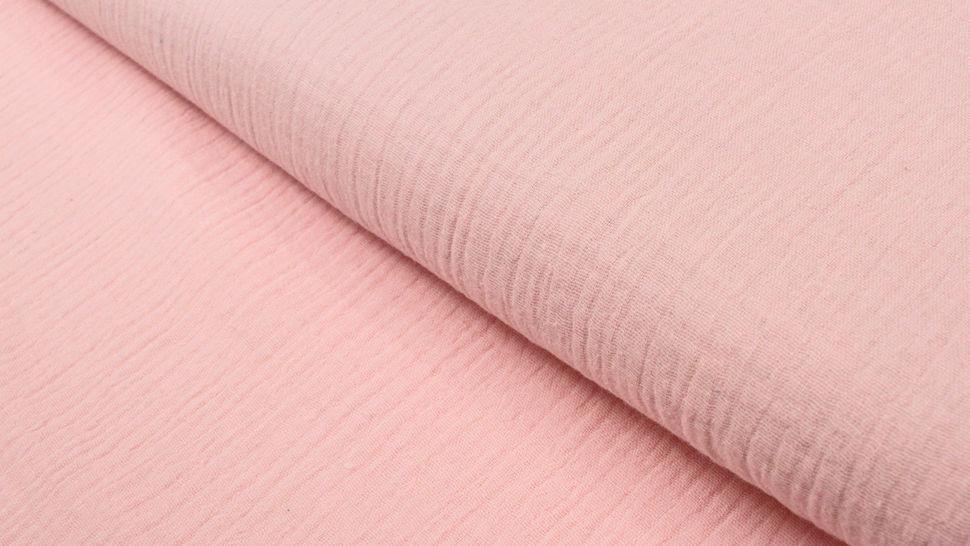 Baumwollstoff rosa Double Gauze - 132 cm im Makerist Materialshop - Bild 1
