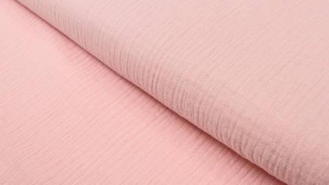Baumwollstoff rosa Double Gauze - 132 cm im Makerist Materialshop