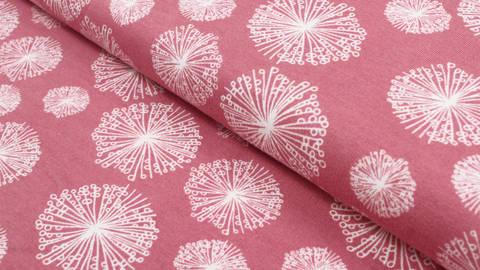 Tissu rose à motif pissenlit Avalana - 160 cm dans la mercerie Makerist