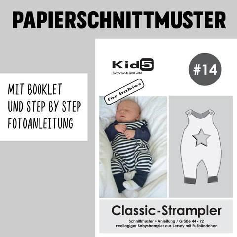 Kid5 Schnittmuster und Nähanleitung gedruckt: Classic-Strampler im Makerist Materialshop