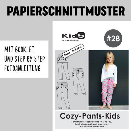 Kid5 Schnittmuster und Nähanleitung gedruckt: Cozy-Pants-Kids im Makerist Materialshop - Bild 1