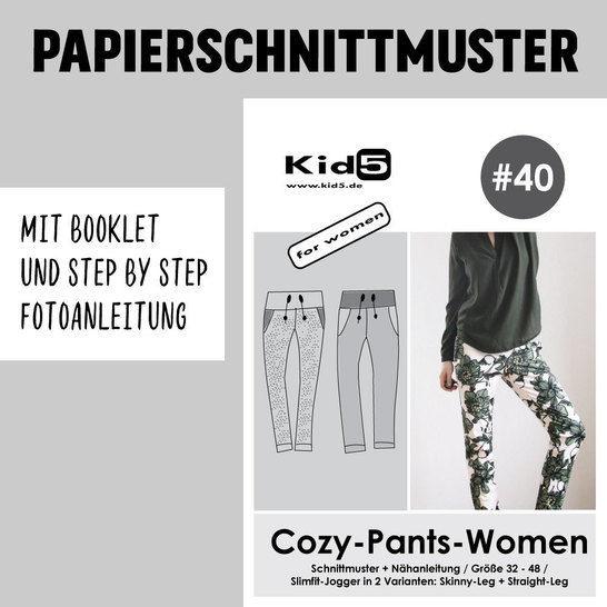 Kid5 Schnittmuster und Nähanleitung gedruckt: Cozy-Pants-Women im Makerist Materialshop - Bild 1